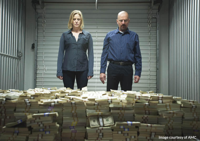 Breaking Bad Season 5 ep 8 Walter and piles of money